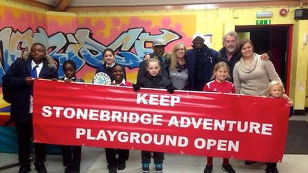 Stonebridge Adventure Playground with DJ Gussy, with white baseball cap on, from Roots FM