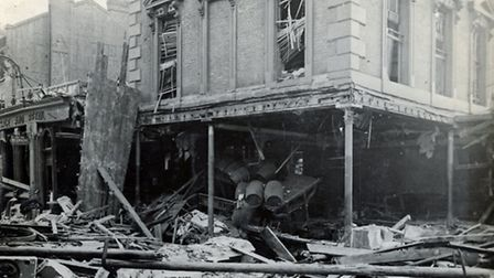 Damage to the Eaglet pub, in Seven Sisters Road, druing the First World War