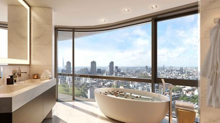An image of one of the spectacular apartments - which are on sale for up to £3.2million