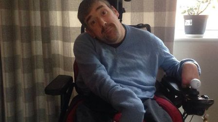 Andrew Provan is looking forward to using the new beach wheelchairs available on Lowestoft South Bea