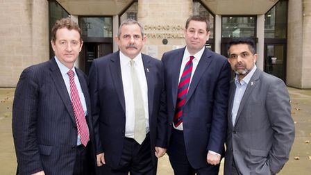Council leaders: Left to right, Cllr Julian Bellm (Ealing), lCllr Steve Curran (Hounslow), Cllr Step