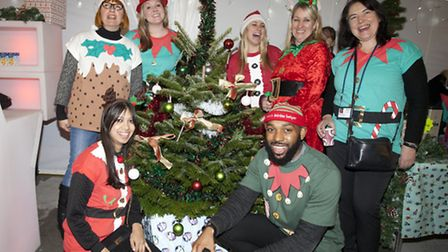 Christmas jumpers on display at the winter wonderland extravaganza