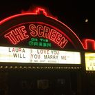 Toby proposed to his girlfriend Laura using the Screen on the Green's famous billboard