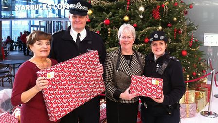 Police delivered Christmas presents to Brent Civic Centre today (Pic credit: Brent Council)