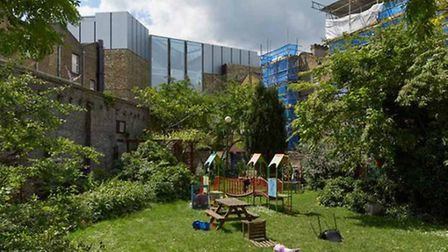 View from community garden with proprosed building