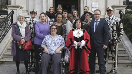L-R front row: Islington Council's executive member for health and wellbeing Cllr Janet Burgess, Cha