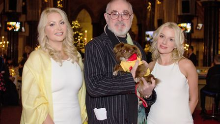 Violet and Verity with actor Peter Egan (Pic credit: Bonnie Baker)