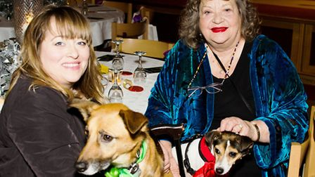 Sylvia Syms and her daughter Beatie Edney with rescue dogs (Pic credit: Bonnie Baker)