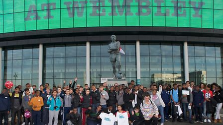 London Football Journeys celebratory event at the Learning Zone in Wembley Stadium