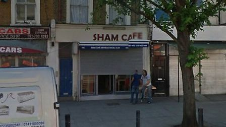 Cafe Sham, in Seven Sisters Road Pic: Google
