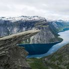 Cliff Edge: Trolltunga in Hordaland, Norway. Picture: Getty Images