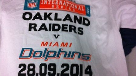 The men sold these fake NFL T-shirts (Pic credit: Brent Council)