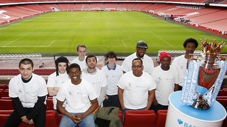 Just some of those helped by the Barclays Premier League Works enitiative at the Emirates Stadium