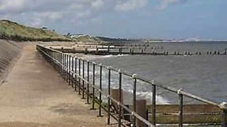 Emergency services assisted a casualty, who had fallen off steps on a coastal promenade.Picture: HM
