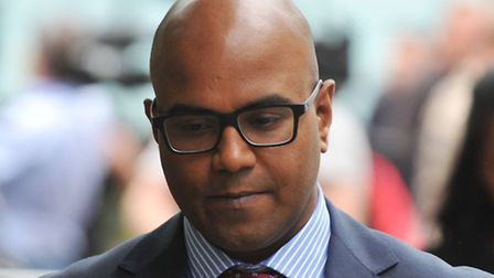 Dr Dhanuson Dharmasena leaves Southwark Crown Court. Picture: PA