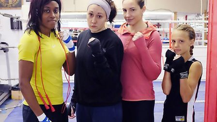 Islington BC squad for the Golden Girls Box Cup in Sweden (left to right): Natasha Rhoden, Charlotte