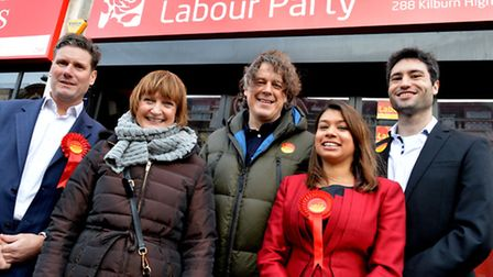 Broadcaster and actor Alan Davies was joined by Tessa Jowell MP, Sir Keir Starmer, Tulip Siddiq and