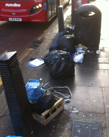 The offending dumped rubbish in the street (Pic credit: Brent Council)