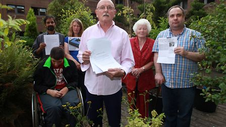 Residents, of 10 Epworth Street, who have saved their outdoor roof garden from the shade