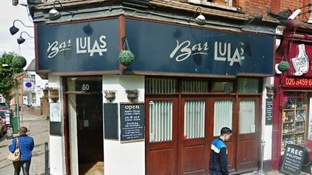 The man was attacked outside Bar Lula's in Willesden (Pic credit: Google streetview)