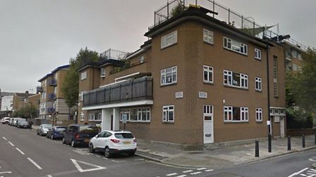 The scene of the stabbing in Salisbury Street, just yards from King Solomon Academy. Picture: Google
