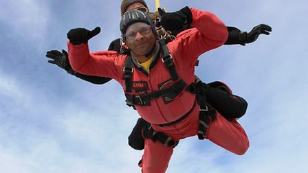 Bharat Pindoria took part in a skydive last year