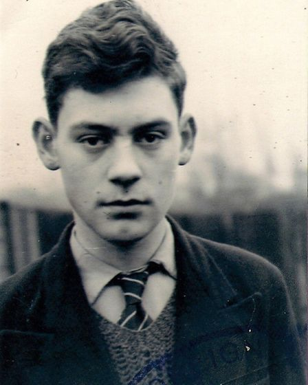 Dave Unwin as a pupil at Willesden County Grammar School (Pic credit: Old Uffingtonians Association