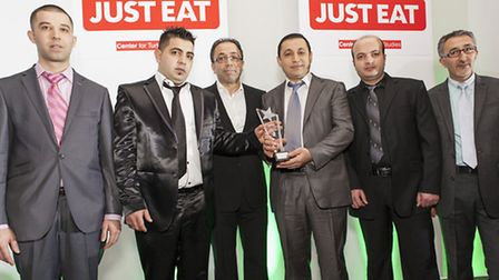 The Super Kebab team pick up their gong