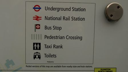 Blunder: The Islington Council signs show toilet and the taxi the wrong way round