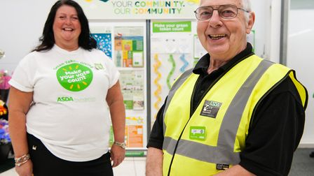 Lowestoft Asda employee Bev Shipp has saluted her colleague Jeff Drayton, who became a father figure