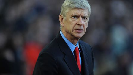 Arsenal manager Arsene Wenger during the Barclays Premier League match at Upton Park, London.