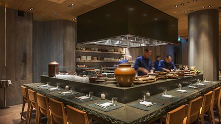 Roka's open kitchen was a sight to behold Pic: Richard Southall/Agi Ch