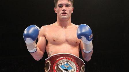 John Ryder with the WBO inter-continental middleweight belt. Pic: Chris Royle/TGSPHOTO