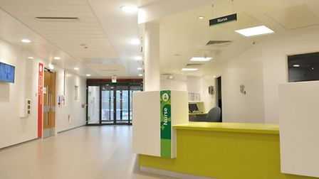 The hospital's �21m revamped A&E unit opened last month