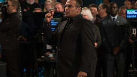 Host Krishnan Guru-Murthy at a previous Channel 4 Brexit debate. Photograph: Aaron Chown.