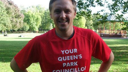 Queens Park councillor James Denselow is running a double marathon. Bethlehem's in March and London'