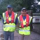 Neville Reeves is on the left. On the right is Rob Hewitt, another volunteer