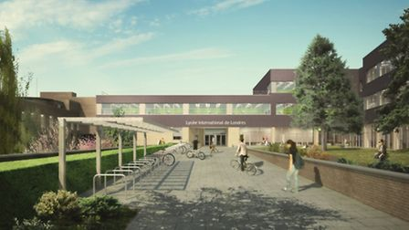 Arist impression of how the school will look once completed