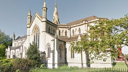 Christ Church, in Highbury, desperately needs cash to save its crumbling spire Pic: Google
