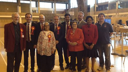 Victorious Labour councillors in May