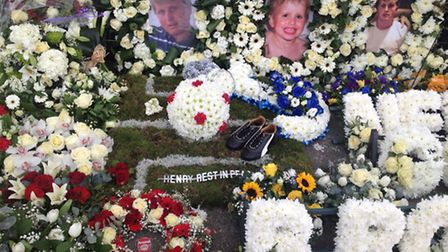 Floral tributes to Henry Hicks