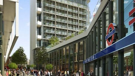 An artist's impression of Finsbury Park Station's new western entrance Pic: City North