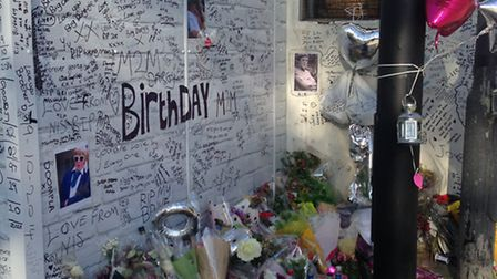 Friends have paid tribute Joe Walker at the place where he died