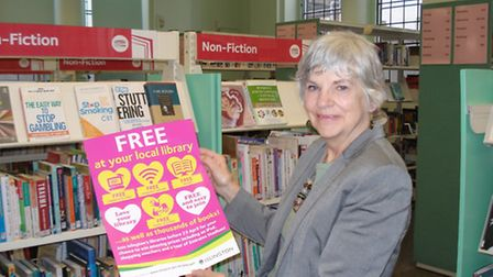 Cllr Janet Burgess at Central Library