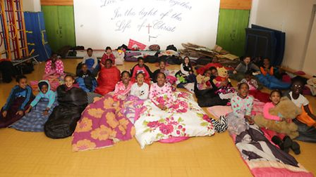 Pupils from St Mary's CofE Primary raise money for charity by experiencing a homeless night at schoo