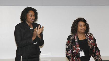 Baroness Lawrence, right, with Dawn Butler, Labour candidiate for Brent Central (Pic credit: Jan Nev