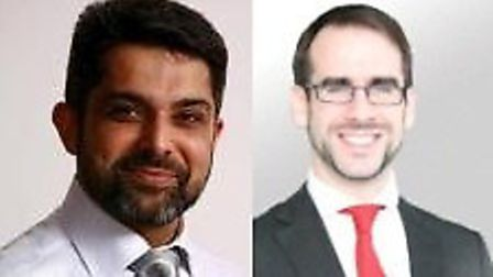 Cllr Muhammed Butt, left and Cllr Michael Pavey
