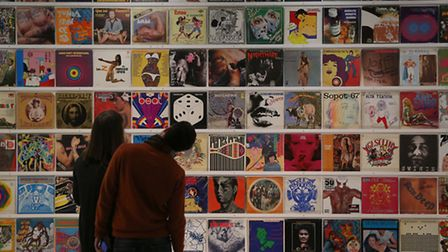 Dr Lakra's record covers collection. Picture: Peter Macdiarmid