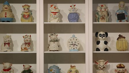 Andy Warhol's cookie jars collection. Picture: Peter Macdiarmid