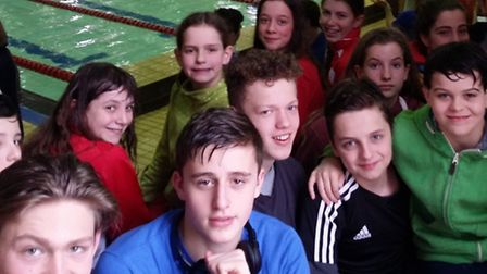 Anaconda swimmers at the Middlesex Championships race at Barnet Copthall